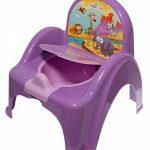 Pot de toilette musical pour bébé enfant fauteuil chaise thème animaux Safari couleur Violet de la marque Tega image 1 produit