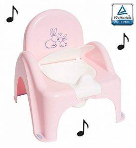 Pot de toilette musical pour bébé enfant fauteuil chaise thème Lapin couleur Rose de la marque Tega image 0 produit