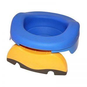 Pot de voyage - réducteur de toilettes Potette Plus - Pack 3 en 1 avec insert caoutchouc réutilisable + 10 recharges jetables de la marque Potette Plus image 0 produit