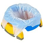 Pot de voyage - réducteur de toilettes Potette Plus - Pack 3 en 1 avec insert caoutchouc réutilisable + 10 recharges jetables de la marque Potette Plus image 3 produit