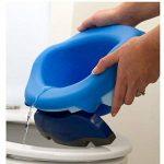 Pot de voyage - réducteur de toilettes Potette Plus - Pack 3 en 1 avec insert caoutchouc réutilisable + 10 recharges jetables de la marque Potette Plus image 2 produit