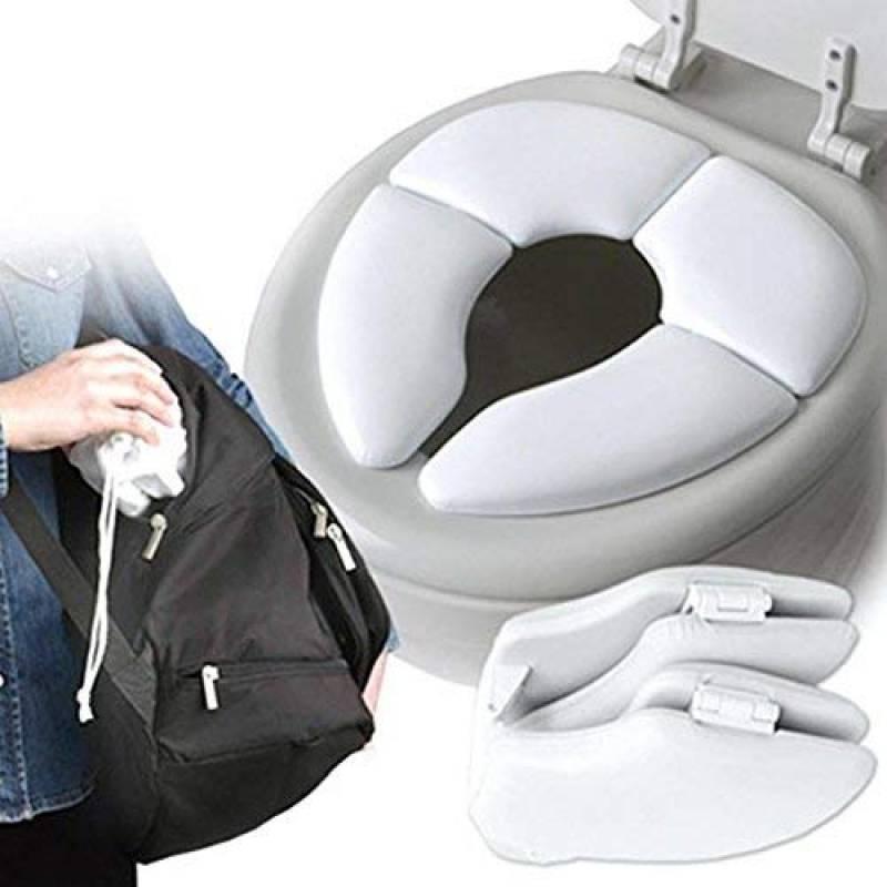 Teabelle R/éducteur de WC Pliable Porte /à Voyage Tout-Petit Pot Si/ège De Toilette Pour B/éb/é Enfant