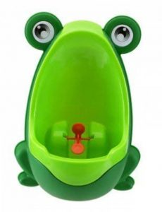Qinlee Grenouilles Boys Urinoir de formation de pot avec cible tourbillonnaire- Utilisez un urinoir de bébé pipi Trainer Vert de la marque Qinlee image 0 produit
