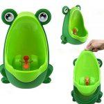 Qinlee Grenouilles Boys Urinoir de formation de pot avec cible tourbillonnaire- Utilisez un urinoir de bébé pipi Trainer Vert de la marque Qinlee image 4 produit