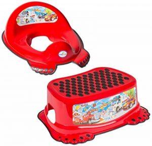 Réducteur de toilette anti-dérapant + marchepied pour évier WC enfant bébé Tega Baby voiture cars couleur rouge de la marque Tega Baby image 0 produit