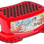 Réducteur de toilette anti-dérapant + marchepied pour évier WC enfant bébé Tega Baby voiture cars couleur rouge de la marque Tega Baby image 2 produit