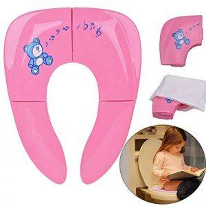 Réducteur de Toilette Enfant 2 in 1 Utiliser à la maison ou dans le voyage,Pliable Pot toilette pour Bébé,Enfant Avec sac de transport de la marque Jaetech House image 0 produit