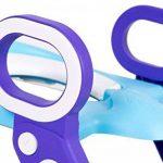 Réducteur WC avec marche pour enfant couvercle rehausseur poignées (bleu+violet, pliable) ONE SMALL STEP de la marque One Small Step image 2 produit
