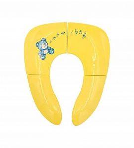 Réducteur WC enfant pliable de voyage avec étui imperméable–Réducteur WC de voyage–Premium–Pot bébé portable et pliable de sac de la marque HÜH! image 0 produit