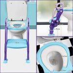 Réducteur WC de Toilette pour Enfant Siège de Toilette Bébé Pliable et Réglable avec Echelle et Manche pour Petits Garçons et Filles de la marque O'BLACK image 4 produit