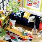 Robotime De Musique Bricolage - Maison de poupées miniatures adorables avec meubles et accessoires - Miniature Dolls Kits de rénovation maison avec LED Light Pour Garçons et Filles 6, 7, 8, 9 Ans et plus - Cadeau de Noël Créatif Pour Enfants et Adulte de image 3 produit