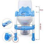 Ruikey siège de toilette pour bébé,pliable et anti-dérapant,reducteur de toilette avec marche pour les garçons et les filles de la marque Ruikey image 3 produit