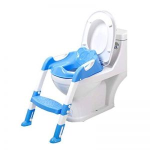 Ruikey siège de toilette pour bébé,pliable et anti-dérapant,reducteur de toilette avec marche pour les garçons et les filles de la marque Ruikey image 0 produit