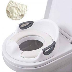 Serviettes de siège de toilette de formation de pot de bébé Pads Filles de garçons, Adulte de urinoir portatif voyage d'anneau pot voyage, Entraîneur toilettes avec poignée, coussin et dossier doux de la marque YWXJY image 0 produit