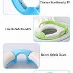 Serviettes de siège de toilette de formation de pot de bébé Pads Filles de garçons, Assistant d'urinoir portatif d'anneau de pot voyage d'enfants, Entraîneur de toilettes avec poignée, dossier élevé de la marque YWXJY image 4 produit