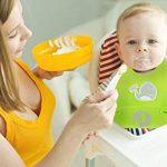 Set de deux bavoirs avec récupérateur, silicone souple imperméable, pour bébés et enfants en bas âge de la marque Chuckle image 1 produit