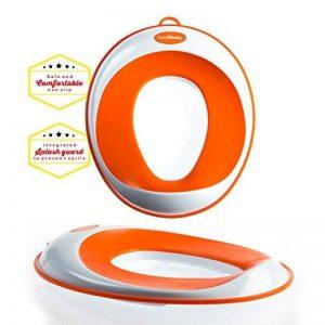 Siege réducteur de toilettes pour enfant antidérapant unisexe | GRATUIT : attache murale de rangement a ventouse de la marque Luvdbaby image 0 produit