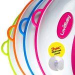 Siege réducteur de toilettes pour enfant antidérapant unisexe | GRATUIT : attache murale de rangement a ventouse de la marque Luvdbaby image 3 produit