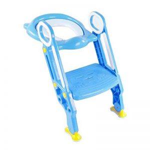 Siège de toilette bleu pour bébé avec échelle pour apprendre à être propre - SQ Pro de la marque SQ Professional image 0 produit
