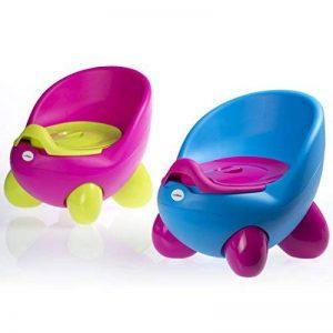 Siège-pot par LuvdBaby   Réservoir amovible à couvercle anti-odeurs   Dossier ergonomique haut  Pieds anti-dérapants   Design amusant pour garçons et filles de la marque Luvdbaby image 0 produit