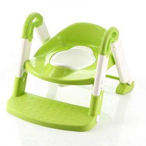 SLHP De toilettes bébé Potty Pot Educatif Evolutif Escabeau Trainer pliable Siège de toilettes pot siège WC siège enfant bleu (Vert) de la marque SLHP image 0 produit