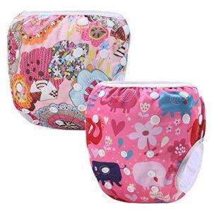 Storeofbaby Couches de bain réutilisables bébé couverture imperméable pour 0-36 mois unisexe Pack de 2 de la marque storeofbaby image 0 produit