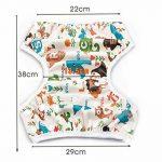 Storeofbaby Couches de bain réutilisables bébé couverture imperméable pour 0-36 mois unisexe Pack de 2 de la marque storeofbaby image 4 produit