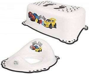 Supreme bébé Cars Blanc Réducteur de toilette + Marchepied Lot de 2 de la marque Supreme Baby image 0 produit