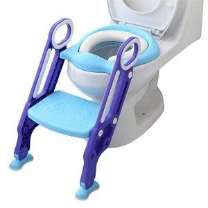 Towinle Siège de Toilette pour Enfant, Siège Pot pour Bébé avec Échelle Pliable Réglable Lunette Confortable Chaise W.C. - Charge Maximale de 75 kg de la marque Towinle image 0 produit