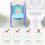 Towinle Siège de Toilette pour Enfant, Siège Pot pour Bébé avec Échelle Pliable Réglable Lunette Confortable Chaise W.C. - Charge Maximale de 75 kg de la marque Towinle image 2 produit
