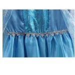 URAQT Reine des Neiges Elsa Costume et Accessoires Gants Couronne Baguette Tresse Robe Longue deguisement Pour Fille de la marque URAQT image 4 produit