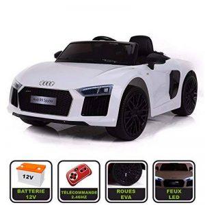 Voiture de sport électrique 12V pour enfant Audi R8 Spyder Cristom® -Télécommande 2.4Ghz- Slot USB et prise MP3 - Licence Audi de la marque Cristom ® image 0 produit